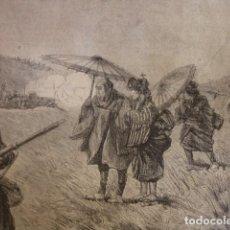 Arte: MANIOBRAS MILITARES EN JAPON .AÑO 1891. Lote 106167703