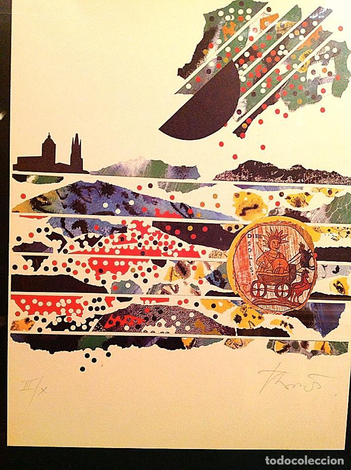 Arte: Cuadro DeL Pintor Joan-Josep Tharrats (1918 – 2001) Litografía original Medidas 69x54CM - Foto 2 - 106653231