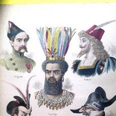 Arte: CARNAVAL - 1897 - LA COIFFURE FRANÇAISE ILLUSTRÉE. Lote 106826503