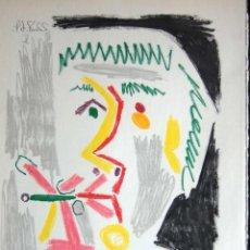 Arte: PABLO PICASSO - LITOGRAFIA OFFSET- EDITION HARRY. H. ABRAMS 1966. Lote 106979739
