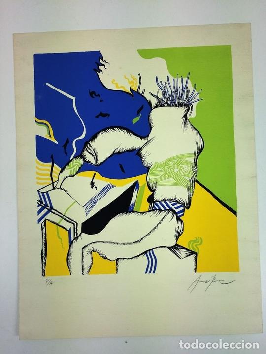Arte: COMPOSICIÓN SURREALISTA. LITOGRAFÍA SOBRE PAPEL. P/A. ARRANZ(?). ESPAÑA. SIGLO XX - Foto 2 - 107003855