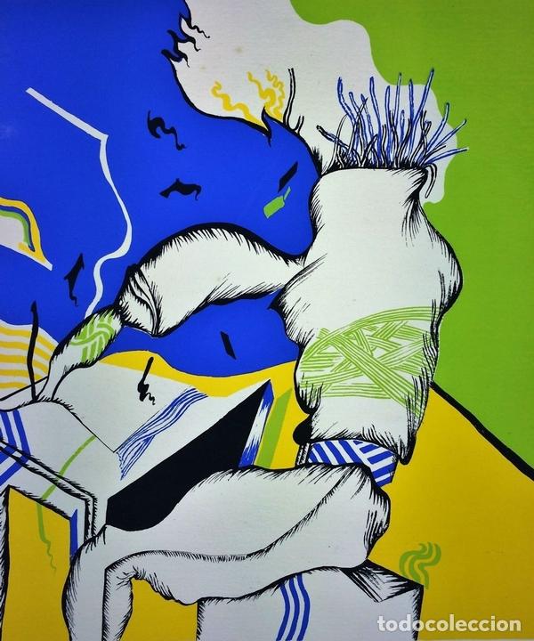 Arte: COMPOSICIÓN SURREALISTA. LITOGRAFÍA SOBRE PAPEL. P/A. ARRANZ(?). ESPAÑA. SIGLO XX - Foto 3 - 107003855