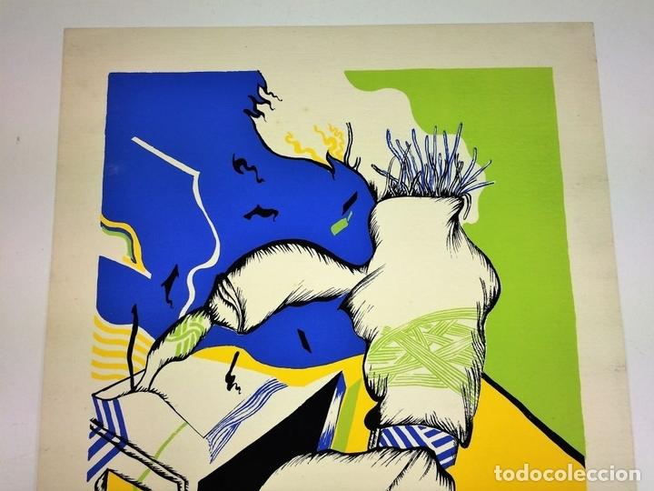 Arte: COMPOSICIÓN SURREALISTA. LITOGRAFÍA SOBRE PAPEL. P/A. ARRANZ(?). ESPAÑA. SIGLO XX - Foto 4 - 107003855