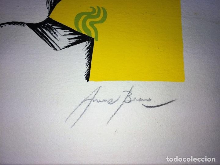 Arte: COMPOSICIÓN SURREALISTA. LITOGRAFÍA SOBRE PAPEL. P/A. ARRANZ(?). ESPAÑA. SIGLO XX - Foto 6 - 107003855