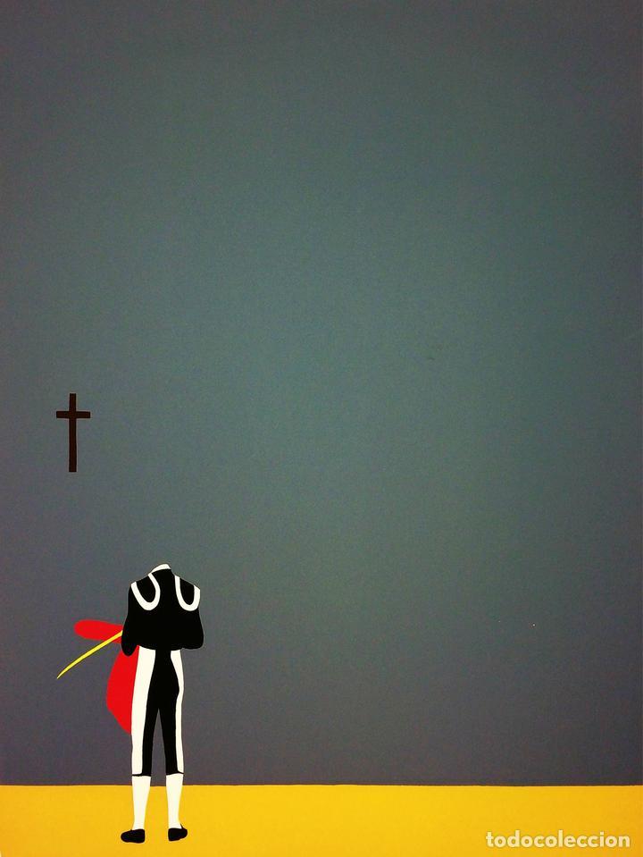 TORERO Y CRUZ. LITOGRAFÍA SOBRE PAPEL. 19/50. GUSTAVO. ESPAÑA. SIGLO XX (Arte - Litografías)