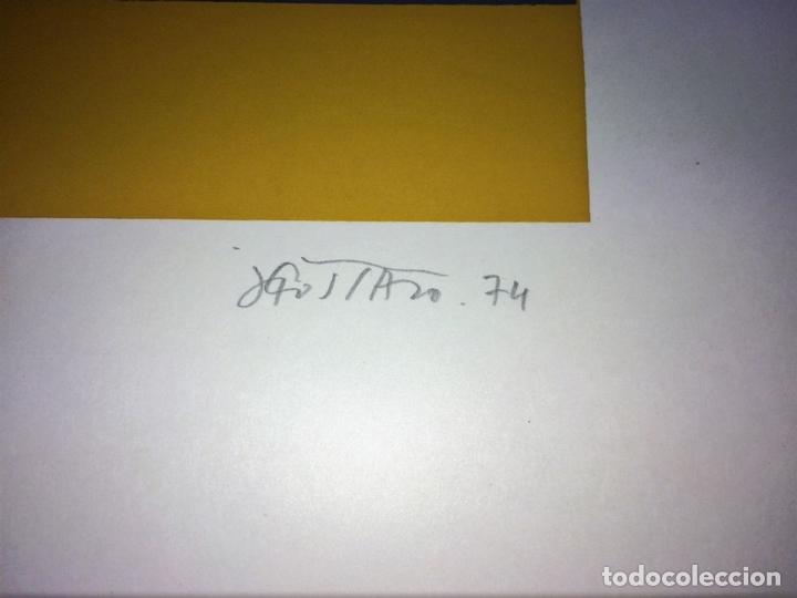 Arte: TORERO Y CRUZ. LITOGRAFÍA SOBRE PAPEL. 19/50. GUSTAVO. ESPAÑA. SIGLO XX - Foto 4 - 107201903