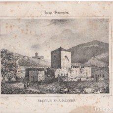 Arte: LITOGRAFIA CASTILLO DE S. MARTIN. VIZCAYA. SOMORROSTRO. SIGLO XIX. Lote 205288020