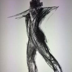 Arte: ATLETA. LITOGRAFIA SOBRE PAPEL. FIRMADO. ESPAÑA. 1984. Lote 107972483