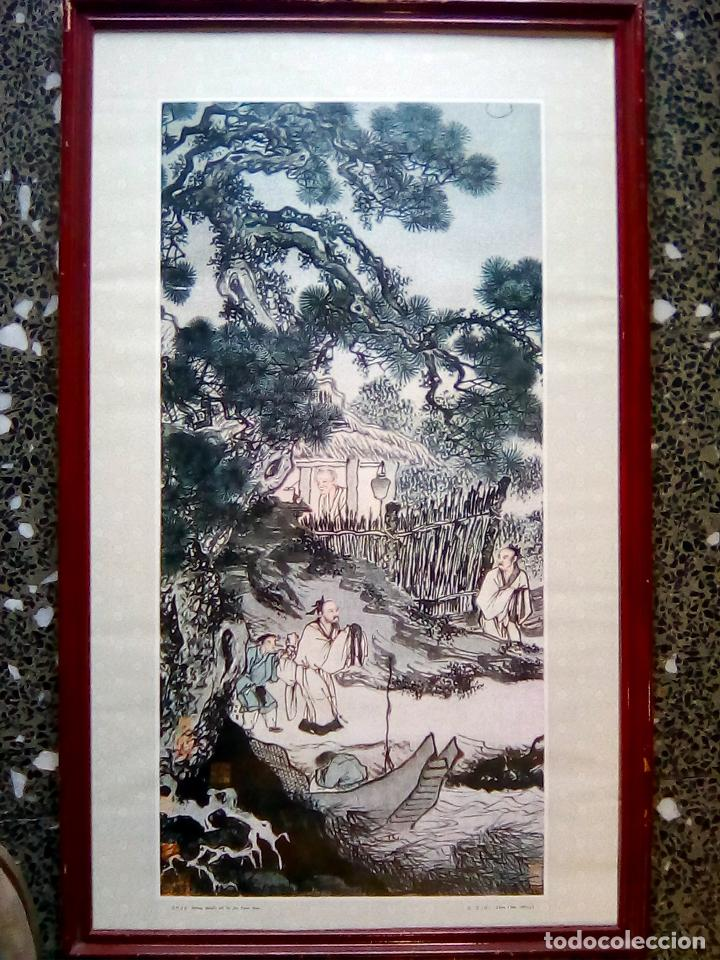 cuadro de ilustracion china en litografia de - - Comprar Litografías ...
