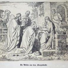 Arte: ANTIGUA LITOGRAFIA ALEMANA, ANUNCIACION. GEZ.V.A DIETRICH. 54 X 57 CM. W. Lote 108706439