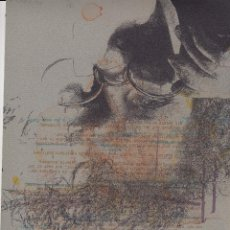 Arte: REINER SCHWARZ KOPF DES MANNES MIT BRILLE FIRMADO FECHADO 87(1987) Y NUMERADO A LÁPIZ NÚM 17/60 RARA. Lote 109001291