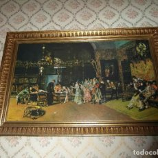 Arte: LITOGRAFIA DEL CUADRO LA VICARIA DE MARIA FORTUNY I CARBO CON MARCO ANTIGUO. 82 CM X 54 CM. Lote 109046663