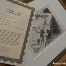 Arte: LITOGRAFIA DE PABLO PICASSO SUITE VOLLARD CON CERTIFICADO DE AUTENTICIDAD, 1956. Lote 109456471