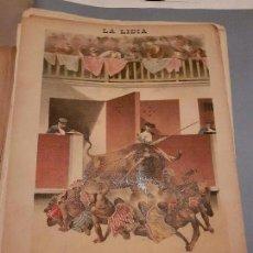 Arte: LITOGRAFIA DE LA LIDIA, 4 DE MAYO DE 1891. LOS INDIOS BRAVOS.. Lote 109494411