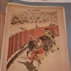 Arte: LITOGRAFIA DE LA LIDIA, 18 DE MAYO DE 1891. BRINDAR LA DIVISA.. Lote 109494575