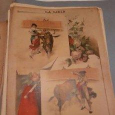 Arte: LITOGRAFIA DE LA LIDIA, 28 DE SEPTIEMBRE DE 1891. LAGARTIJO Y GUERRITA, BILBAO 1891. Lote 109494707