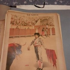 Arte: LITOGRAFIA DE LA LIDIA, 20 DE ABRIL DE 1891. SERENIDAD DE CURRO CUCHARES.. Lote 109495287