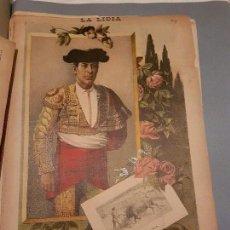 Arte: LITOGRAFIA DE LA LIDIA, 17 DE AGOSTO DE 1891. JOSÉ MACHÍO.. Lote 109495407