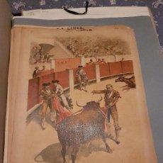 Arte: LITOGRAFIA DE LA LIDIA. 24 DE AGOSTO DE 1891. HERIR CON AVISO.. Lote 109495531