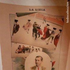Arte: LITOGRAFIA DE LA LIDIA, 22 DE MAYO DE 1899. DOMINGO DEL CAMPO DOMINGUIN. Lote 109495643