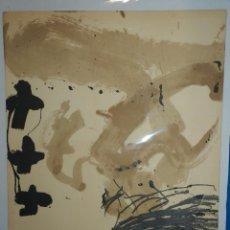 Arte: (M) LITOGRAFIA ANTONI TAPIES 23/100 , 65 X 50 CM, BUEN ESTADO DE CONSERVACION, FIRMA A LAPIZ. Lote 109770771