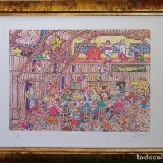 Arte: JULIO CARO BAROJA. LITOGRAFÍA MUNDO JOVIAL. FIRMADO Y NUMERADO A MANO. Lote 110263971