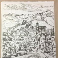 Arte: 10 LITOGRAFÍAS ORIGINALES DE BENJAMIN PALENCIA. ANTONIO MACHADO. DESDE MI RINCÓN. LA MANCHA. . Lote 110347047