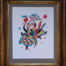Arte: RAFAEL ALBERTI. LITOGRAFÍA: FOLCLORE. FIRMADA Y NUMERADA A MANO POR EL ARTISTA.. Lote 110355351