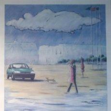 Arte: PEUGEOT AT DEAUVILLE. LITOGRAFÍA DE 1980, FIRMADA Y NUMERADA.. Lote 110368247