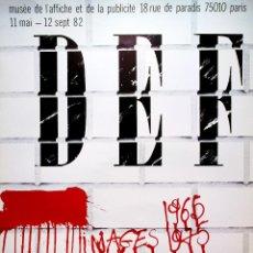 Arte: CARTEL DE MUSEO PUBLICIDAD DE -LA REVOLTA-DE PARIS AÑO 1982 . DISEÑO DE- B. VIDAL - TAMAÑO 81X60 CMS. Lote 110498059