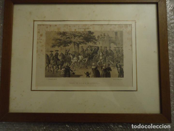LITOGRAFÍA. VISITA DE S.S.M.M. A CIUDADELA, MENORCA EN SEPTIEMBRE DE 1860 (Arte - Litografías)