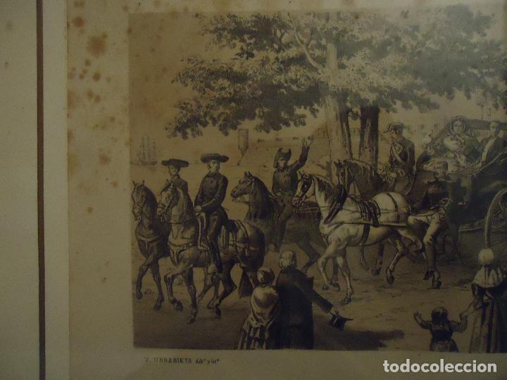 Arte: Litografía. Visita de S.S.M.M. a Ciudadela, Menorca en septiembre de 1860 - Foto 4 - 110532199