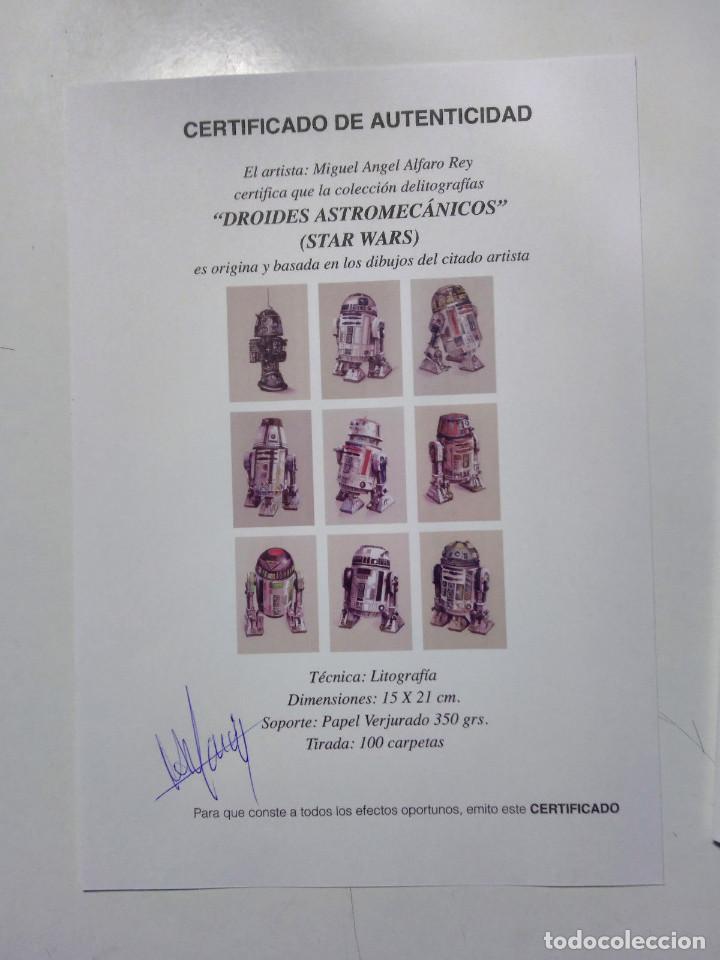 Arte: Fantástica colección Litografías -DROIDES ASTROMECÁNICOS-. STAR WARS - Foto 2 - 175844440