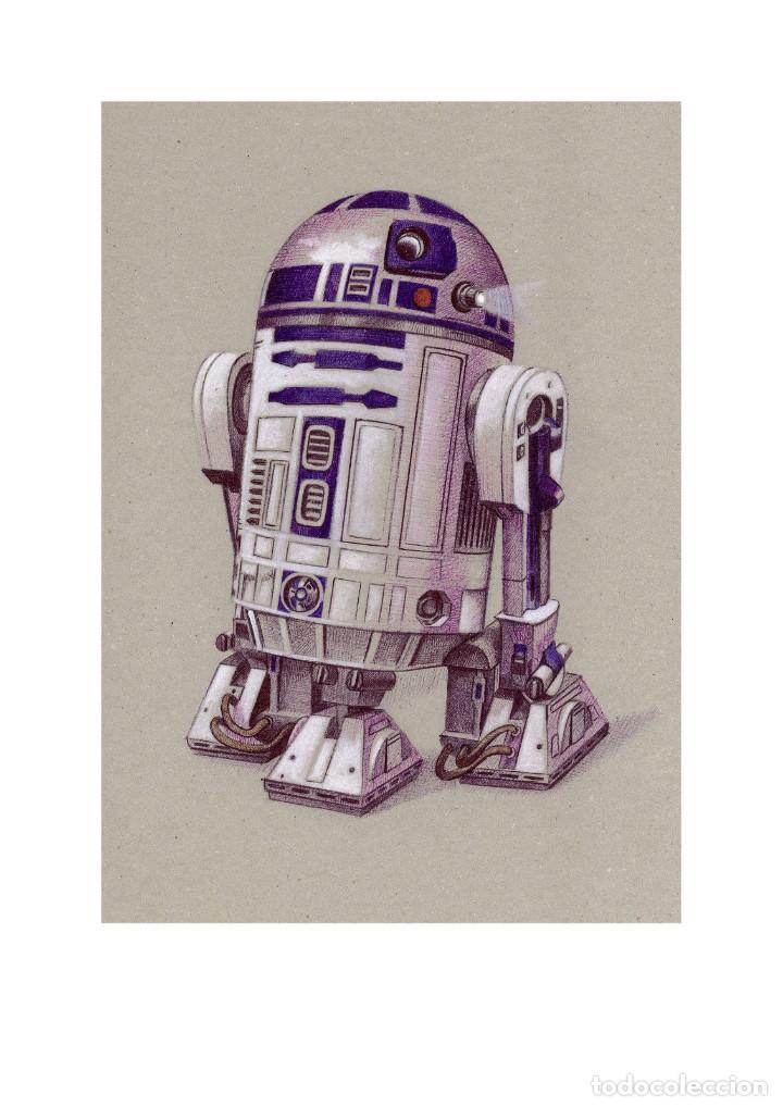 Arte: Fantástica colección Litografías -DROIDES ASTROMECÁNICOS-. STAR WARS - Foto 4 - 175844440