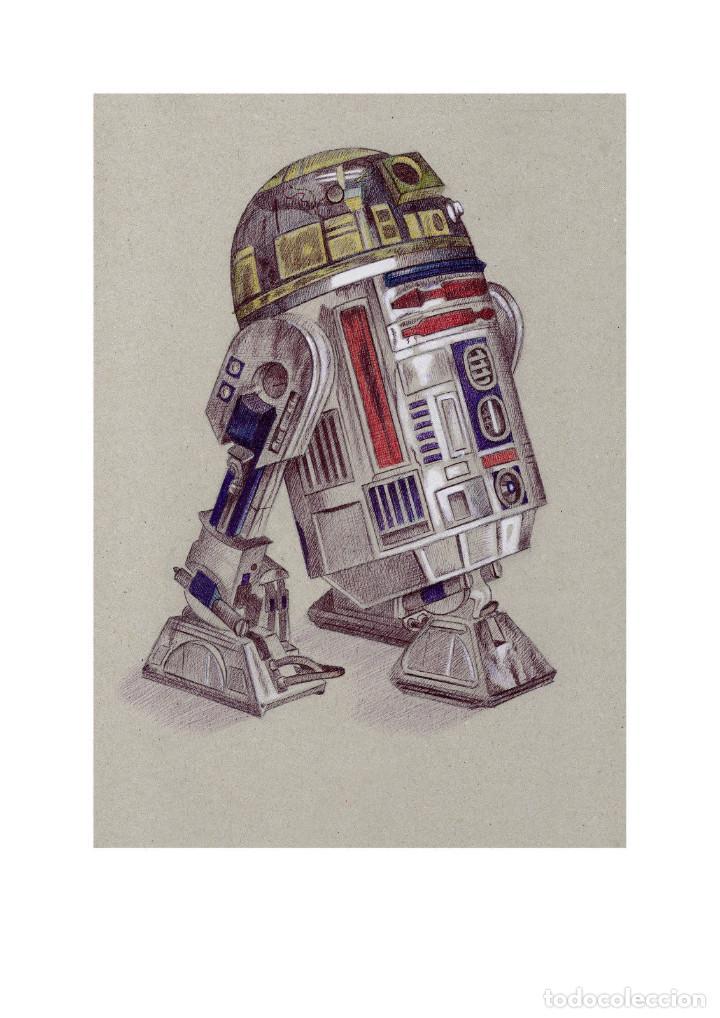 Arte: Fantástica colección Litografías -DROIDES ASTROMECÁNICOS-. STAR WARS - Foto 5 - 175844440