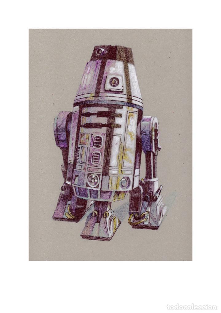 Arte: Fantástica colección Litografías -DROIDES ASTROMECÁNICOS-. STAR WARS - Foto 6 - 175844440