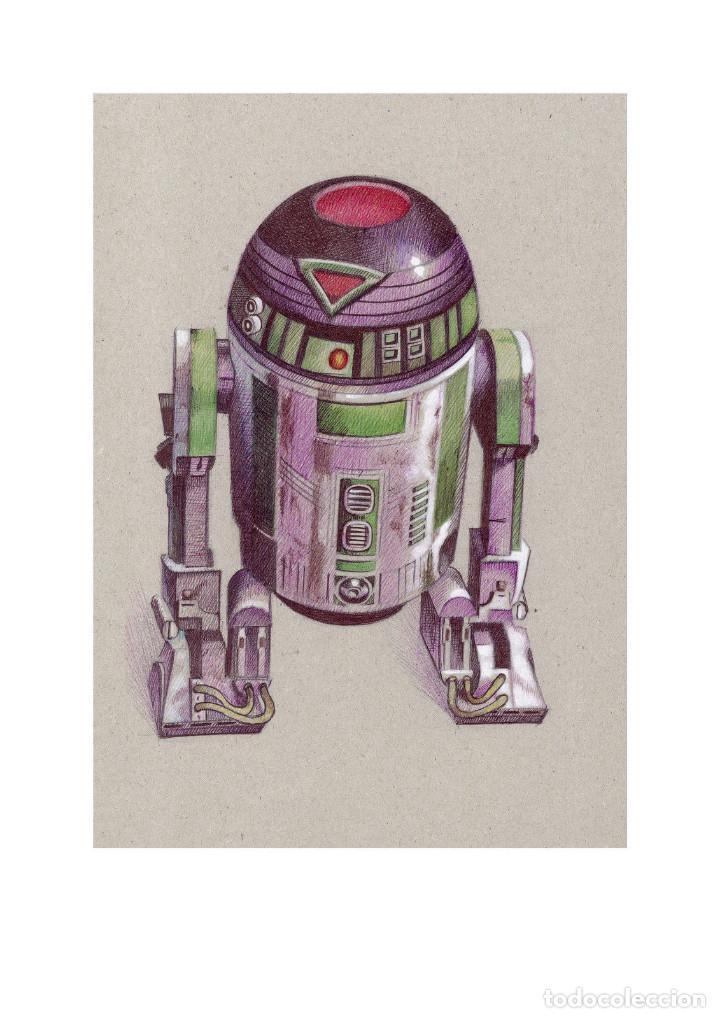 Arte: Fantástica colección Litografías -DROIDES ASTROMECÁNICOS-. STAR WARS - Foto 9 - 175844440
