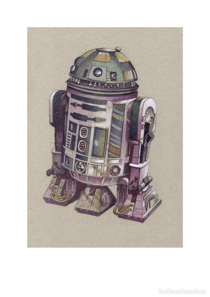 Arte: Fantástica colección Litografías -DROIDES ASTROMECÁNICOS-. STAR WARS - Foto 11 - 175844440