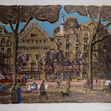 Arte: LITOGRAFÍA 10/99 PASEO DE GRACIA FIRMA ILEGIBLE SIGLO XX. Lote 111174655