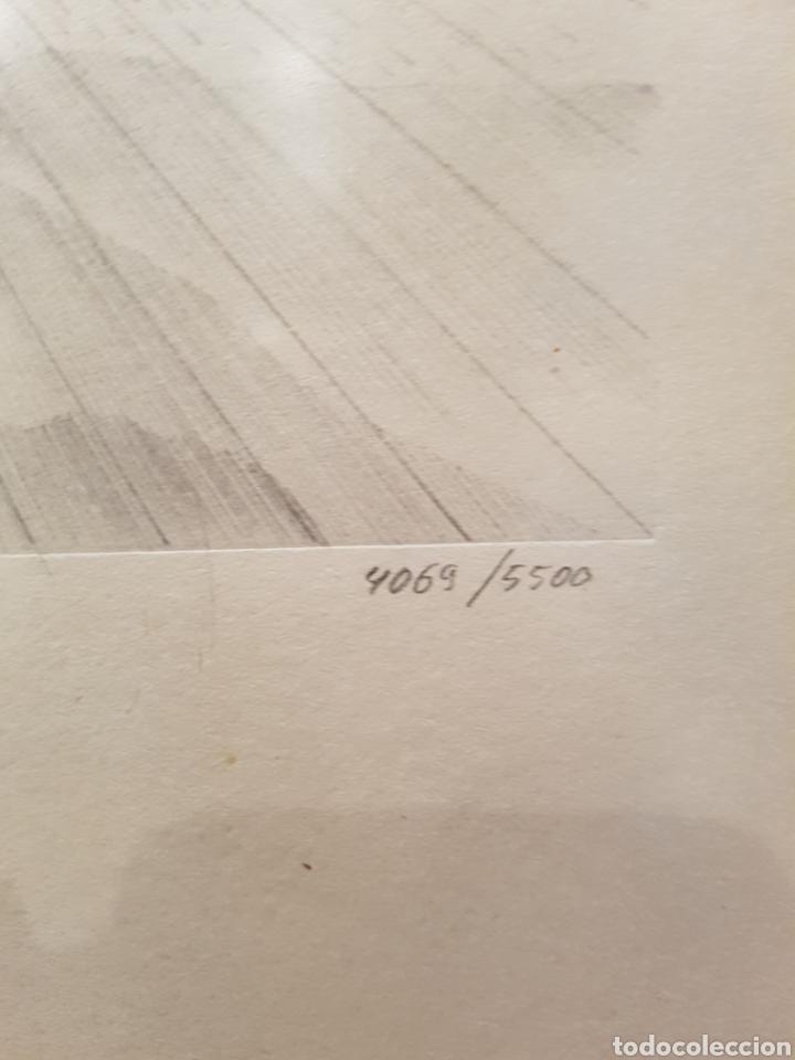Arte: interesante litografia, enmarcada. Firmada y numerada. Firma ilegible. 28x38cm - Foto 4 - 111919882