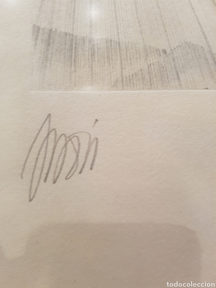 Arte: interesante litografia, enmarcada. Firmada y numerada. Firma ilegible. 28x38cm - Foto 5 - 111919882