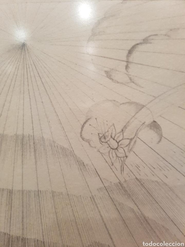 Arte: interesante litografia, enmarcada. Firmada y numerada. Firma ilegible. 28x38cm - Foto 6 - 111919882