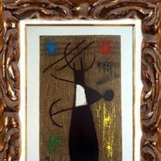 Arte: JOAN MIRO. FEMME ET OISEAU. ORIGINAL 1960. LITOGRAFÍA EN PAPEL. Lote 111921683