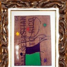 Arte: JOAN MIRO. FEMME ET OISEAU. ORIGINAL 1960. LITOGRAFÍA EN PAPEL. Lote 111921791