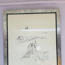 Arte: POLÍN LAPORTA (ALCOI,1920-ALICANTE 2004) SERIGRAFIA, PRUEBA DE AUTOR, INCLUYE POESIA. ENMARCADO. Lote 112055791