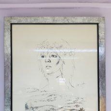 Arte: POLÍN LAPORTA (ALCOI,1920-ALICANTE 2004) SERIGRAFIA, PRUEBA DE AUTOR, INCLUYE POESIA. ENMARCADO. Lote 112056102