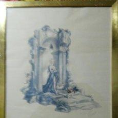 Arte: CARLOS SAEZ DE TEJADA 1950. FIRMA ORIGINAL. ENVIO CERTIFICADO INCLUIDO.. Lote 112203956