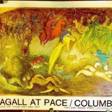 Arte: MARC CHAGALL: CARTEL LITOGRÁFICO EXPOSICIÓN PACE GALLERY, DAPHNIS AND CHLOE / 1977 DE EXPOSICIÓN COL. Lote 112815067