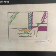Arte: LITOGRAFÍA DE RAFOLS CASAMADA, FIRMADA Y NUMERADA A LÁPIZ 75/200 AÑO 1977. . Lote 113586387