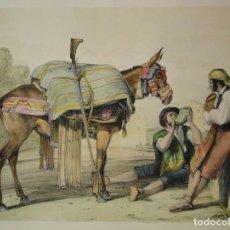 Arte: ARRIEROS DE RONDA DEL ARTISTA JOHN FREDERICK LEWIS. Lote 113901487